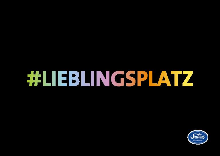 das Wort Lieblingspplatz geschrieben mit bunten Farbverlauf